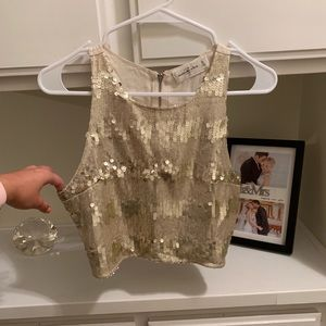 Abercrombie & Fitch Sequin Crop Cami